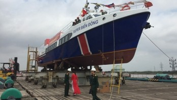 Ly Son Island's new high-speed boat launched
