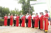 Former state president Sang attends inaugural ceremony of traffic works in Long An