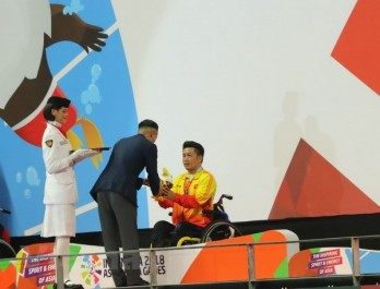 Swimmer secures first gold for Vietnam at Asian Para Games 2018