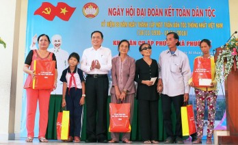 VFF chairman attends great national unity festival in Long An