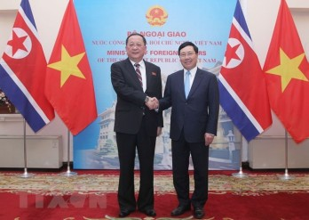 Deputy PM, FM holds talks with DPRK Foreign Minister