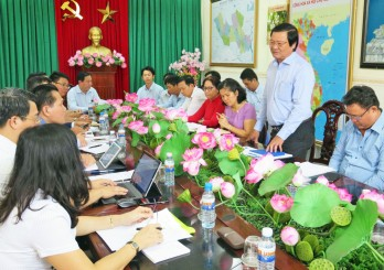 Dau Giay Market to consume of Long An's agricultural and handicraft products