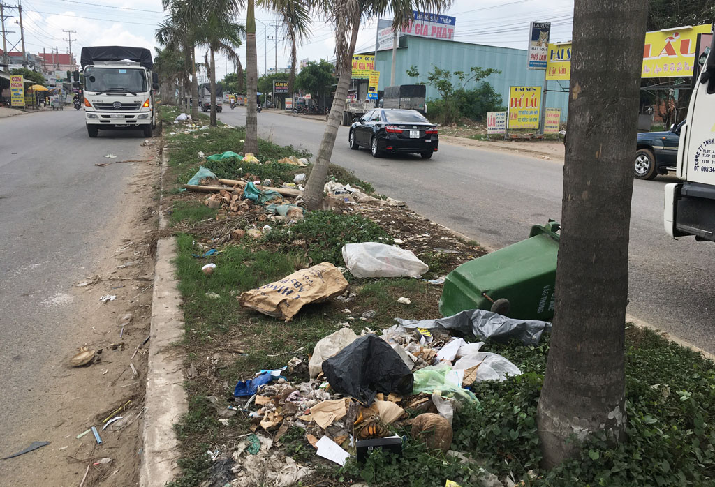 Waste collection is not in accordance with regulations on the road leading to Hai Son and Tan Duc IPs