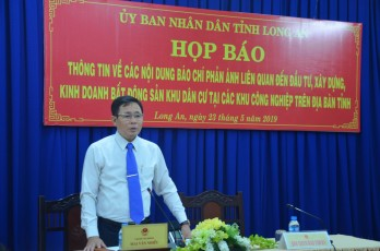 Long An holds press conference to inform about residential area investment and construction in industrial parks