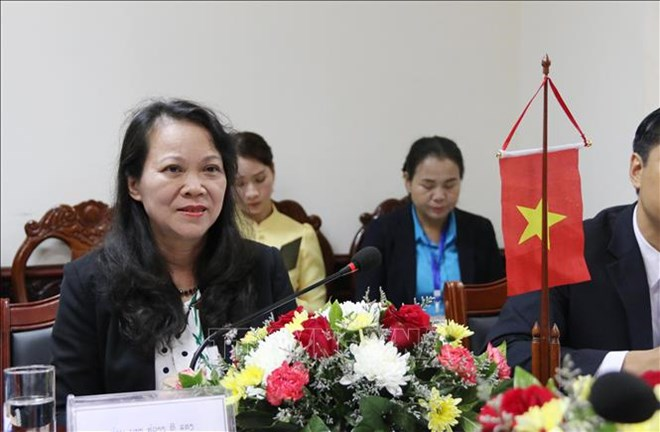 Deputy Minister-Vice Chairman of the Committee on Ethnic Minority Affairs Hoang Thi Hanh (Photo: VNA)