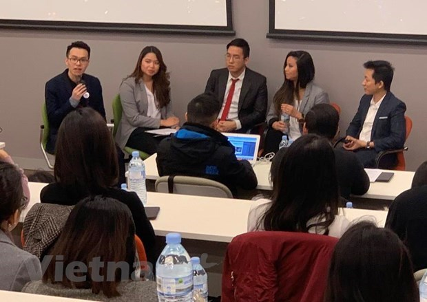 At the conferenc to kick off the first startup competition for Vietnamese students and alumni in Australia (Photo: VNA)