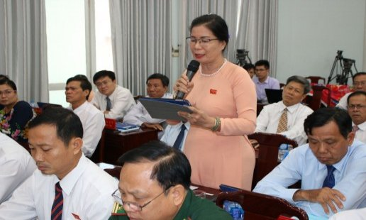 15th meeting session of Long An People's Council, session IX: Delegates' opinions are received and explained adequately