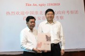 Huabei city leaders (China) pays courtesy visit to Long An leaders