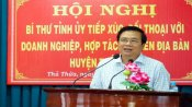 Long An Provincial Party Committee Secretary - Pham Van Ranh dialogues with businesses and cooperatives in Thu Thua district