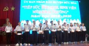Former State President - Truong Tan Sang attends the scholarship award ceremony in Duc Hoa