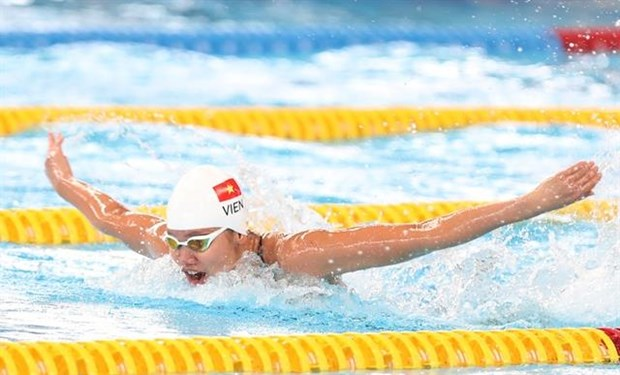 Swimmer Nguyen Thi Anh Vien is expected to shine at the upcoming SEA Games. (Photo: nld.com.vn)