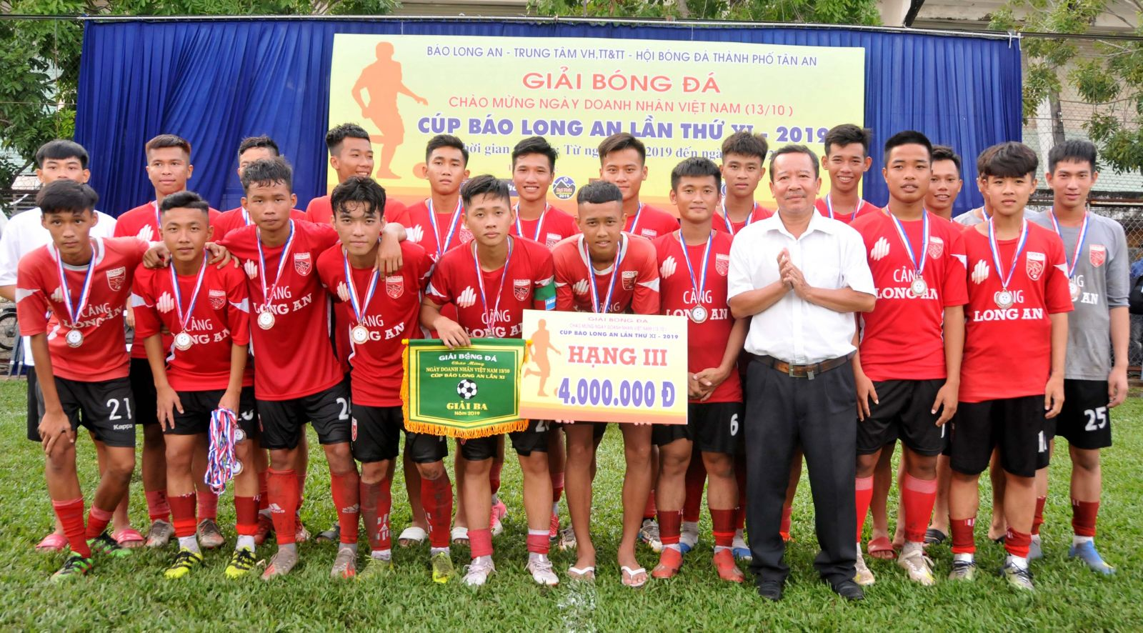 Long An youth team wins the 3rd prize