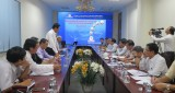 Leaders of Long An Provincial People's Committee work with investor and consultant on gas thermal power plant project