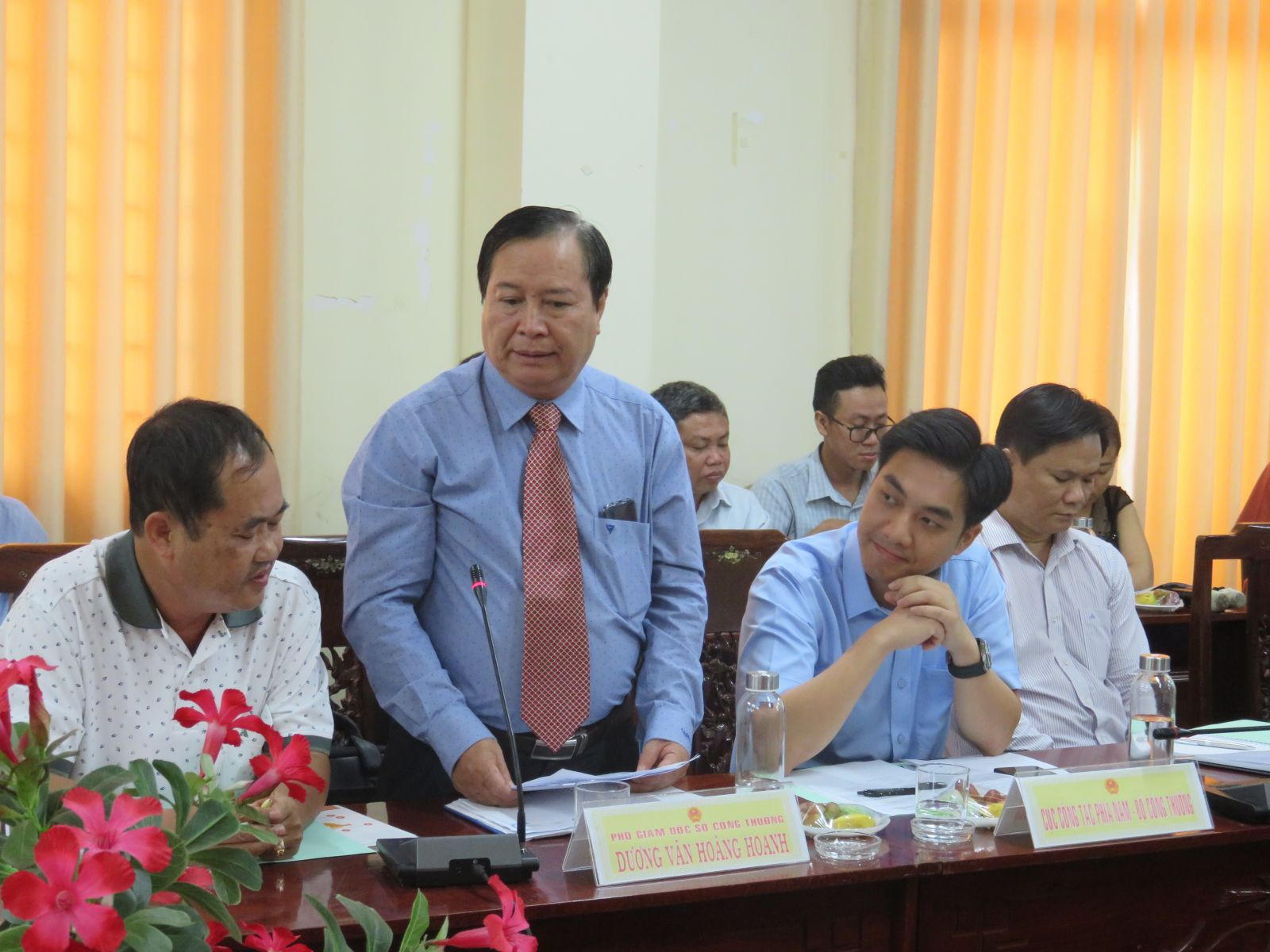 Deputy Director of Department of Industry and Trade - Duong Van Hoang Hoanh informed that Long An had many typical agricultural products such as rice, dragon fruit, seedless lemon and many other processed products