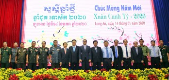 Long An organizes New Year meeting with Cambodian delegation
