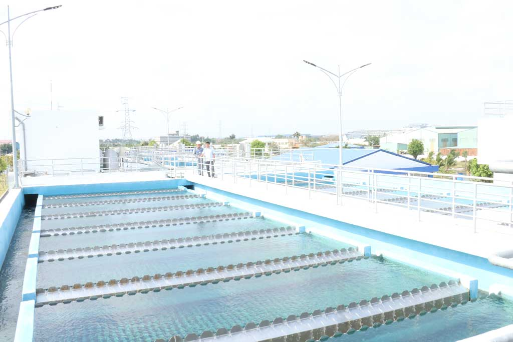 Nhi Thanh Water Plant meets the standards for clean water, ensuring the supply of domestic water as well as local production