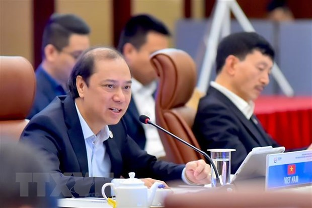 Deputy Foreign Minister Nguyen Quoc Dung, head of the ASEAN Senior Officials' Meeting (SOM) Vietnam (Photo: VNA)