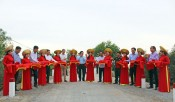 Former State President - Truong Tan Sang attends inauguration ceremony of bridges and culverts in Duc Hue