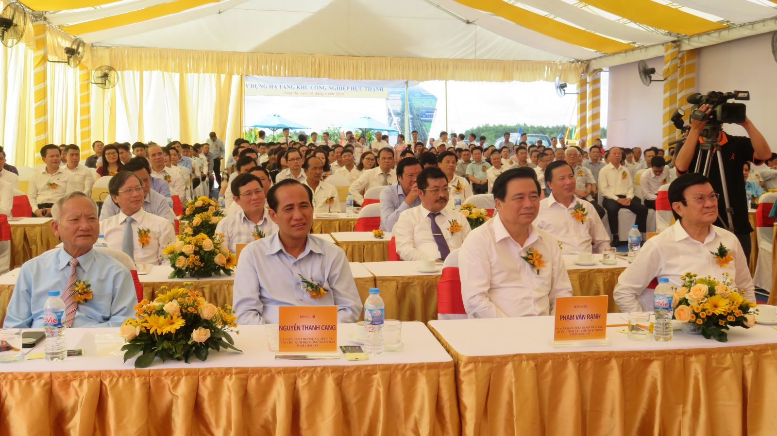 Delegates attended the groundbreaking ceremony