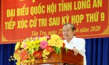 Standing Deputy Prime Minister - Truong Hoa Binh meets Tan Tru voters