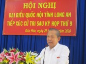 Standing Deputy Prime Minister - Truong Hoa Binh meets voters in Duc Hoa district
