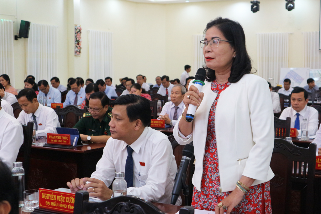 Delegate Nguyen Thi Thanh Thuy (Can Duoc district) petitions about the situation of black credit