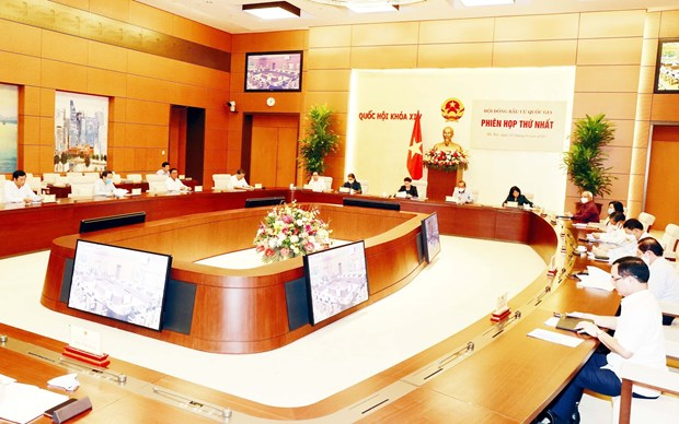 The first meeting of the National Election Council on August 3 (Photo: VNA)