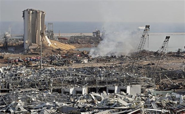The aftermath of the massive explosion in Beirut, Lebanon (Photo: AFP/VNA)