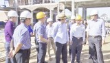 Former State President - Truong Tan Sang inspects construction progress of Thien Ho Duong High School