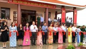 Former State President - Truong Tan Sang attends the inauguration ceremony of 88th Regiment Martyrs Memorial Temple